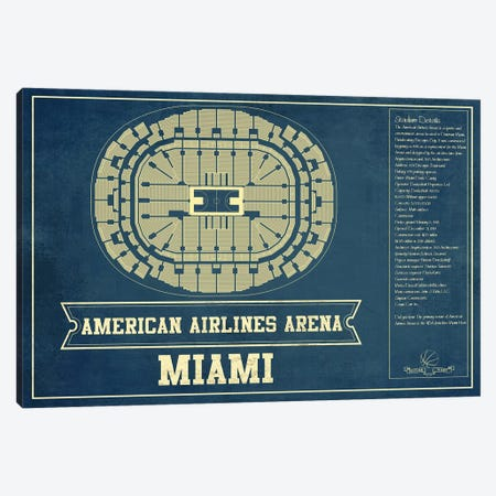 Miami American Airlines Arena Canvas Print #CWE86} by Cutler West Canvas Art Print