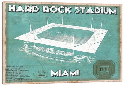 Miami Hard Rock Stadium Canvas Art Print