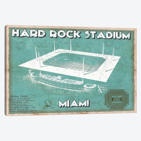 Miami Hard Rock Stadium Canvas Print #CWE87} by Cutler West Canvas Print