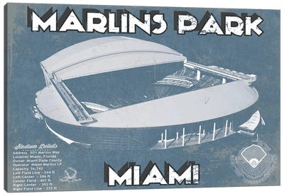 Miami Marlins Park I Canvas Art Print