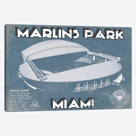 Miami Marlins Park I Canvas Print #CWE88} by Cutler West Canvas Artwork