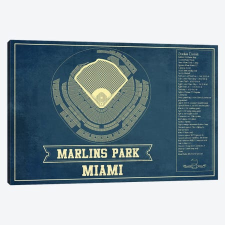 Miami Marlins Park II Canvas Print #CWE89} by Cutler West Canvas Art