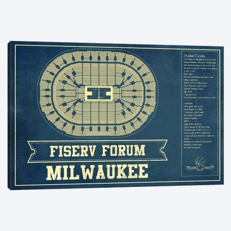 Milwaukee Fiserv Forum Canvas Print #CWE91} by Cutler West Canvas Art Print