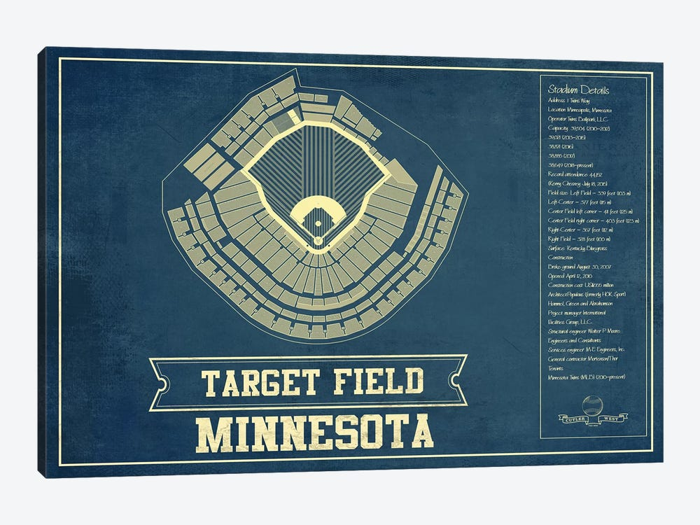 Minnesota Target Field by Cutler West 1-piece Art Print