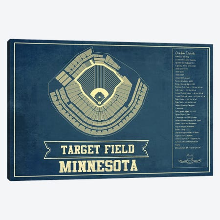 Minnesota Target Field Canvas Print #CWE93} by Cutler West Canvas Art Print