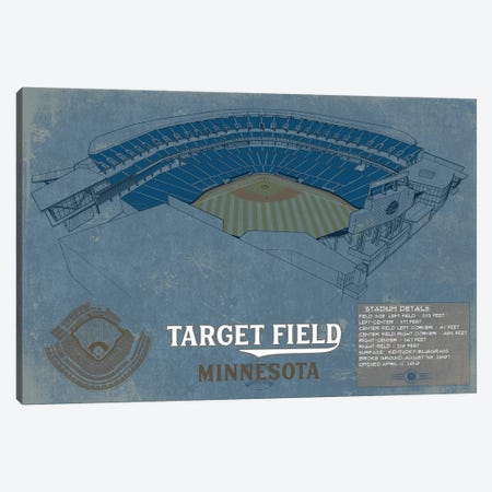 Minnesota Target Field Blueprint Canvas Print #CWE94} by Cutler West Canvas Art