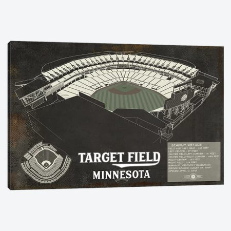 Minnesota Target Field Rustic Canvas Print #CWE95} by Cutler West Canvas Wall Art