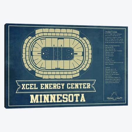 Minnesota Xcel Energy Center Canvas Print #CWE96} by Cutler West Canvas Art