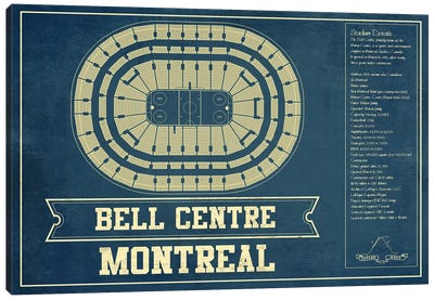 Montreal Bell Centre Canvas Art Print