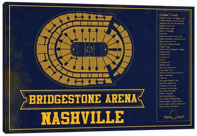 Nashville Bridgestone Arena Canvas Art Print