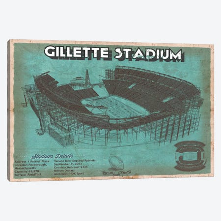 New England Gillette Stadium I Canvas Print #CWE99} by Cutler West Canvas Print