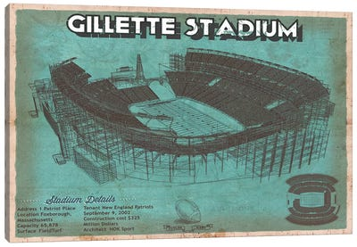 New England Gillette Stadium I Canvas Art Print