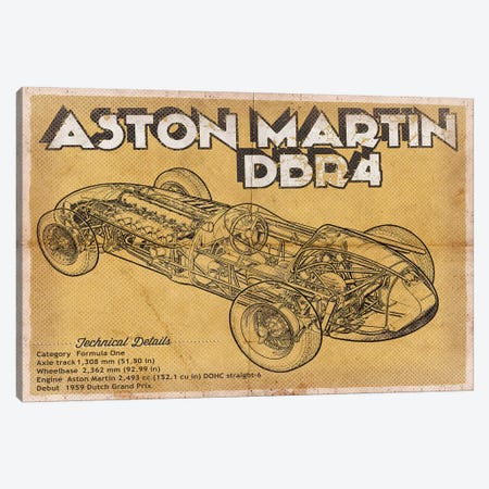 Aston Martin DBR4 Canvas Print #CWE9} by Cutler West Canvas Print