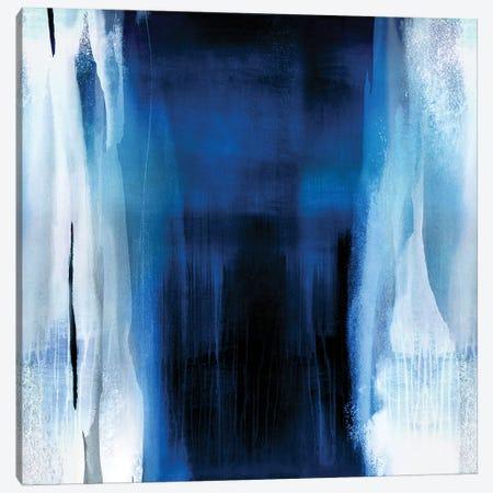 Free Fall Indigo Blue II Canvas Print #CWG10} by Christine Wright Art Print