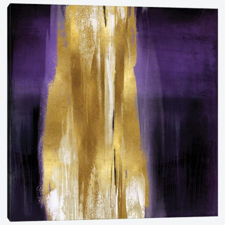 Free Fall Purple with Gold I Canvas Print #CWG11} by Christine Wright Canvas Print