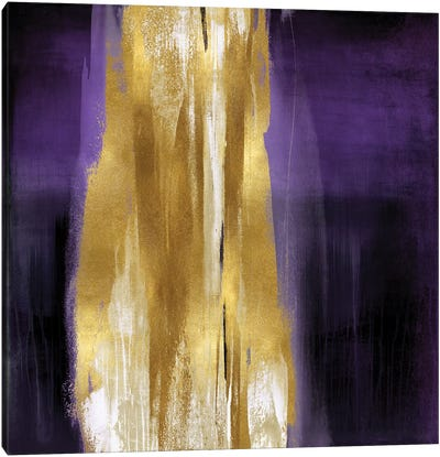 Free Fall Purple with Gold I Canvas Art Print