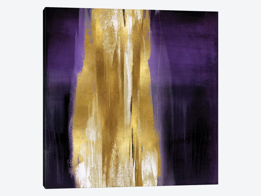 Free Fall Purple with Gold I 1-piece Canvas Art