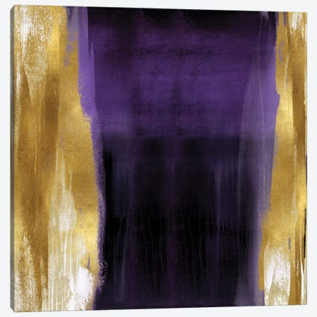 Free Fall Purple with Gold II Canvas Print #CWG12} by Christine Wright Canvas Art Print