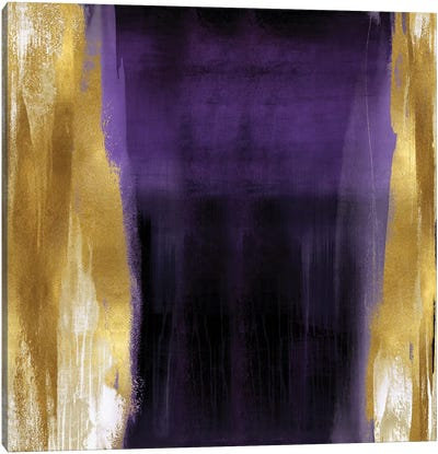 Free Fall Purple with Gold II Canvas Art Print