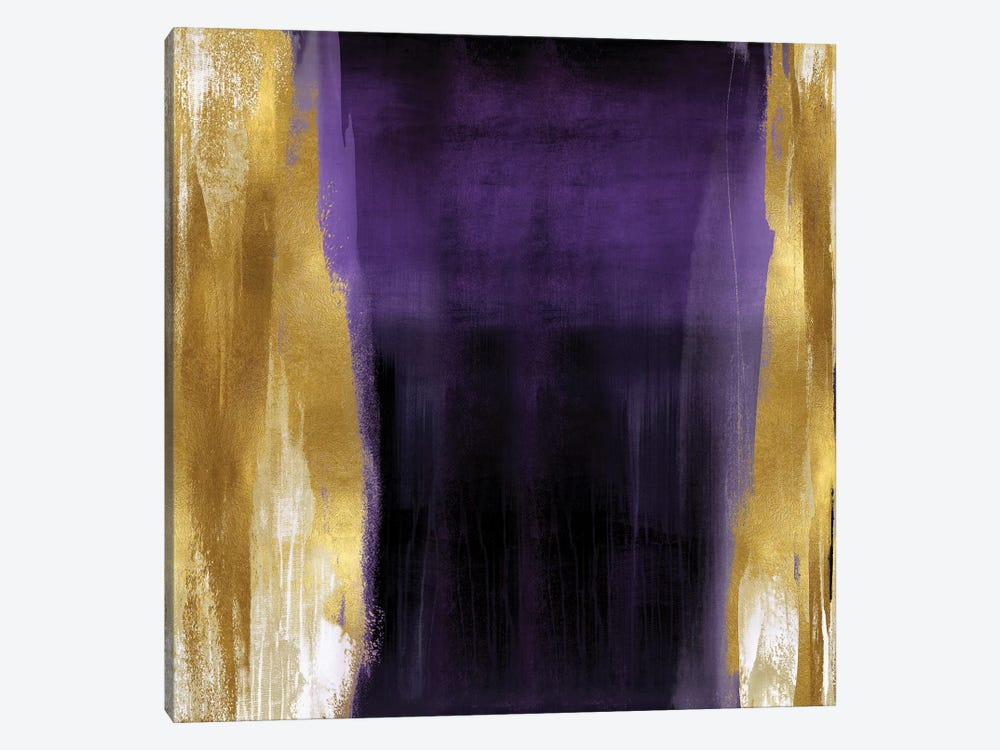 Free Fall Purple with Gold II by Christine Wright 1-piece Canvas Art Print