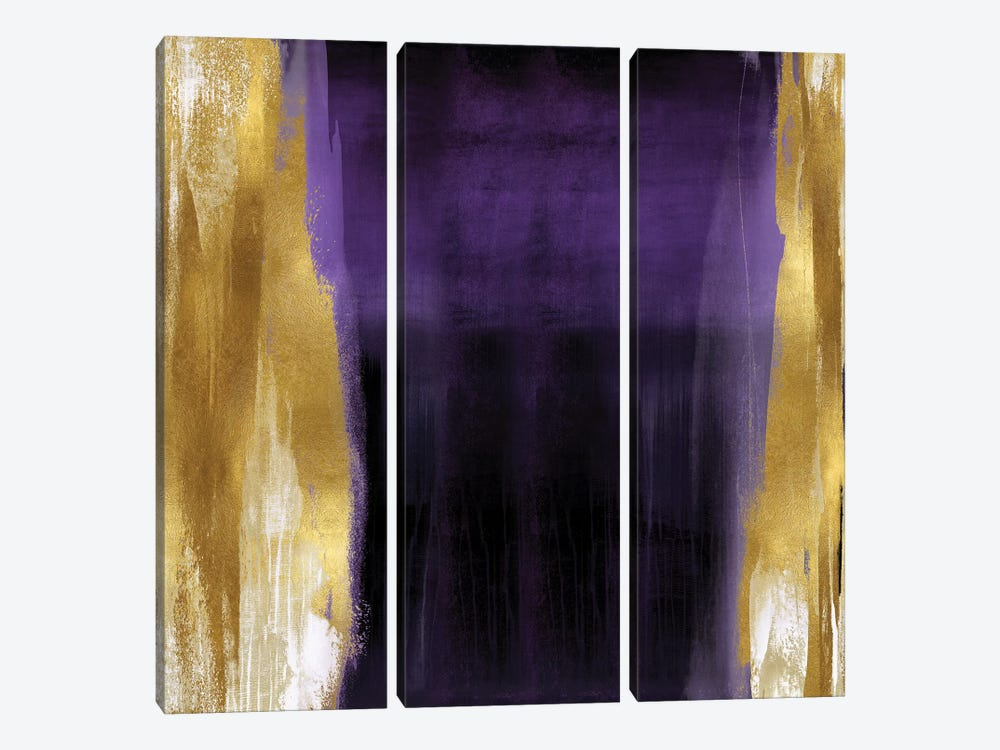 Free Fall Purple with Gold II by Christine Wright 3-piece Art Print