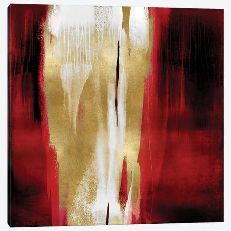 Free Fall Red with Gold I Canvas Print #CWG13} by Christine Wright Canvas Print