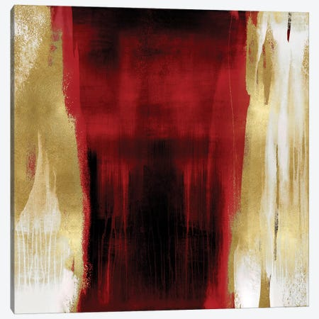 Free Fall Red with Gold II Canvas Print #CWG14} by Christine Wright Canvas Art