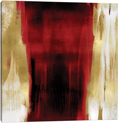 Free Fall Red with Gold II Canvas Art Print