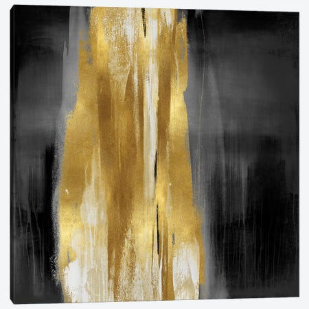Free Fall Gray with Gold I Canvas Print #CWG5} by Christine Wright Canvas Wall Art