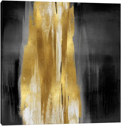 Free Fall Gray with Gold I Canvas Art Print