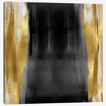Free Fall Gray with Gold II Canvas Print #CWG6} by Christine Wright Canvas Art