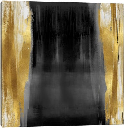 Free Fall Gray with Gold II Canvas Art Print
