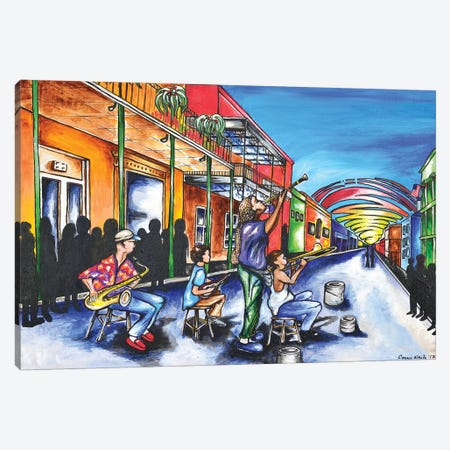 NOLA Jazz Canvas Print #CWH10} by Carrie White Canvas Wall Art