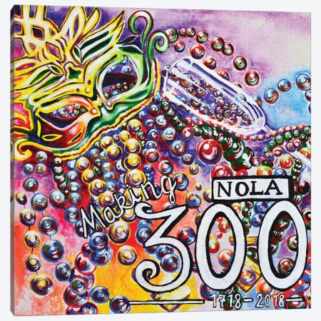 NOLA Making 300 Canvas Print #CWH11} by Carrie White Canvas Art