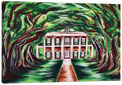 Oak Alley Canvas Art Print