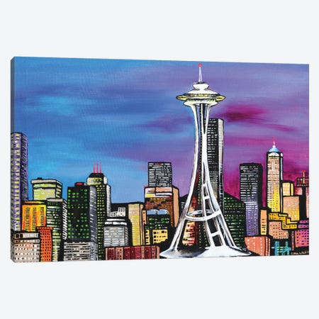Seattle Canvas Print #CWH17} by Carrie White Art Print