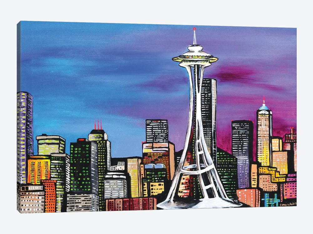 Seattle by Carrie White 1-piece Canvas Art