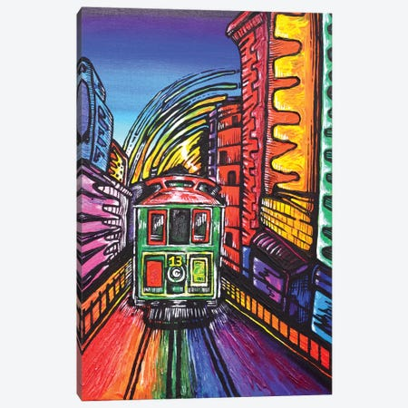 SF Trolley Canvas Print #CWH18} by Carrie White Canvas Art