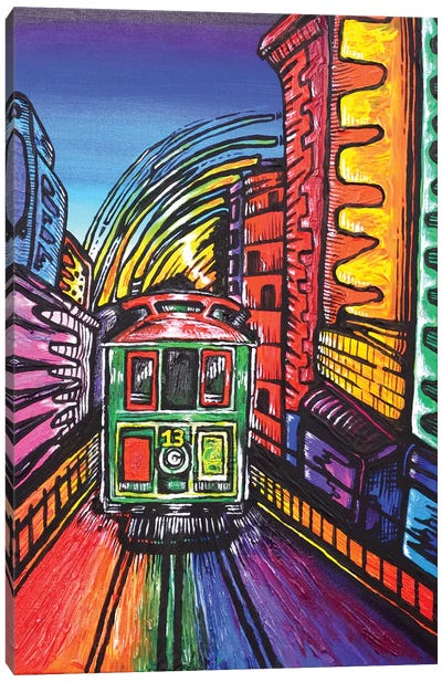 SF Trolley Canvas Art Print