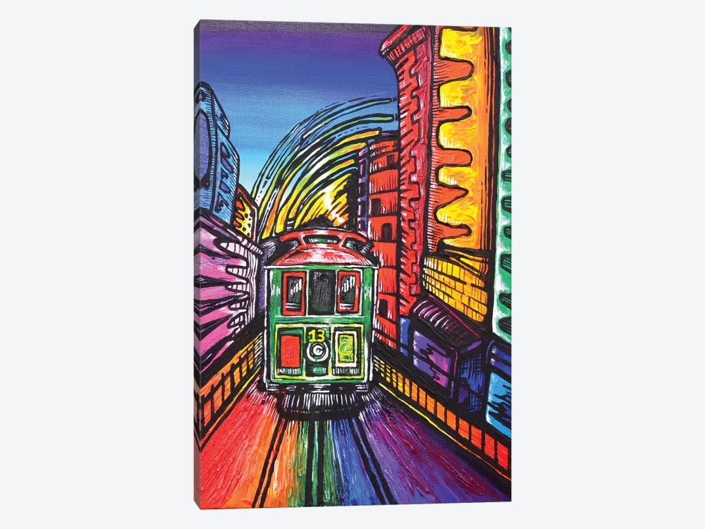 SF Trolley by Carrie White 1-piece Canvas Print