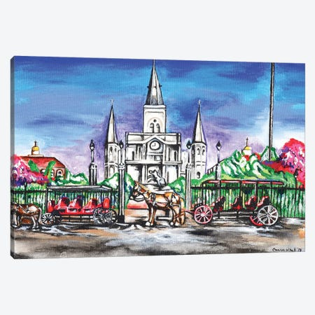 St. Louis Cathedral, New Orleans 3-Piece Canvas #CWH19} by Carrie White Canvas Artwork