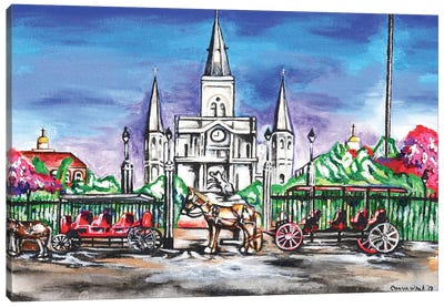 St. Louis Cathedral, New Orleans Canvas Art Print