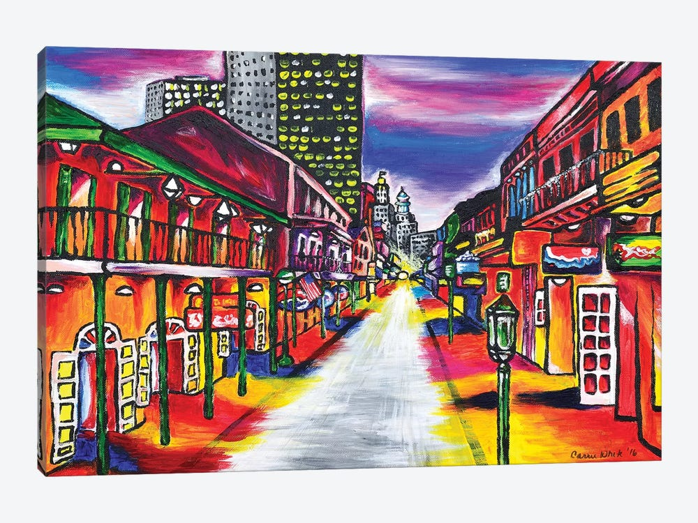 Bourbon Street, New Orleans by Carrie White 1-piece Canvas Art