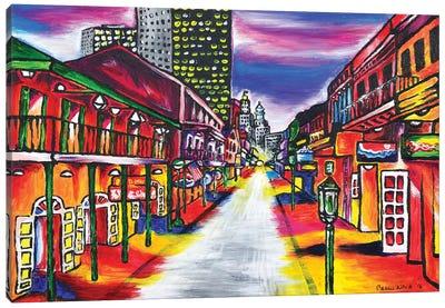 Bourbon Street, New Orleans Canvas Art Print