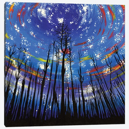 Starlit Forest 3-Piece Canvas #CWH20} by Carrie White Canvas Print