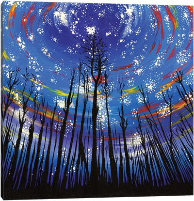 Starlit Forest Canvas Art Print