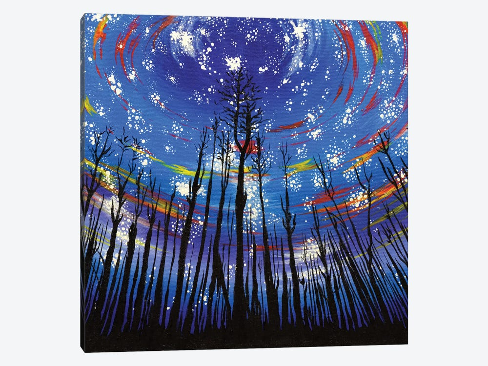 Starlit Forest by Carrie White 1-piece Canvas Art