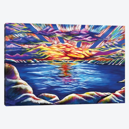 Tahoe Sunset Canvas Print #CWH22} by Carrie White Canvas Print