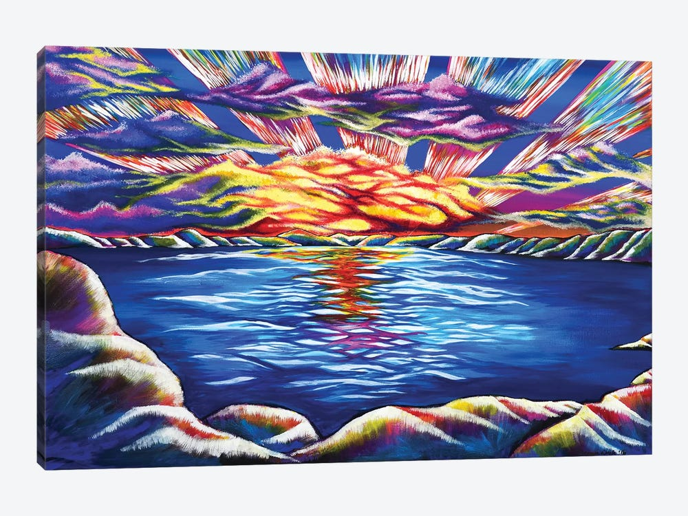 Tahoe Sunset by Carrie White 1-piece Canvas Wall Art