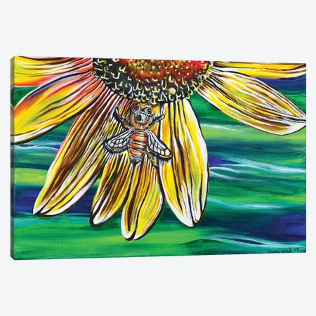 The Bee's Knees 3-Piece Canvas #CWH23} by Carrie White Canvas Print